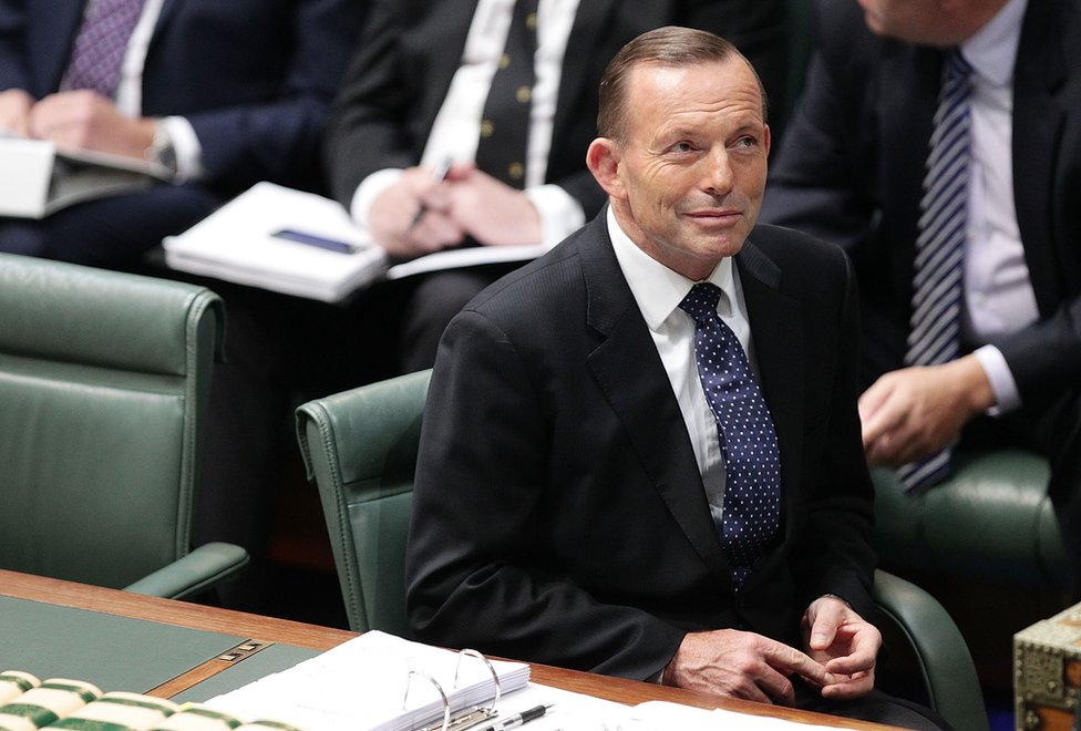 Prime Minister Tony Abbott during House of Representatives question time at Parliament House on 11 August 2015 in Canberra, Australia