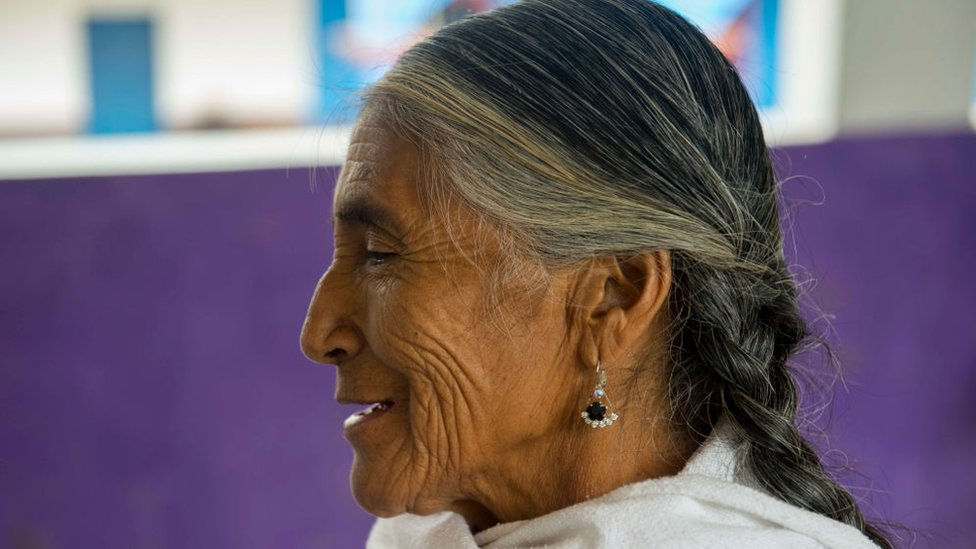 Una mujer indígena de Oaxaca.