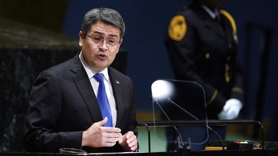 El presidente de Honduras, Juan Orlando Hernández, ante Naciones Unidas