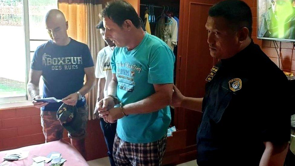 Francesco Galdelli tras ser arrestado en Pattaya.