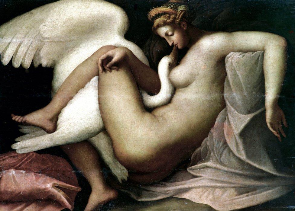 Michelangelo copy - Leda and the Swan
