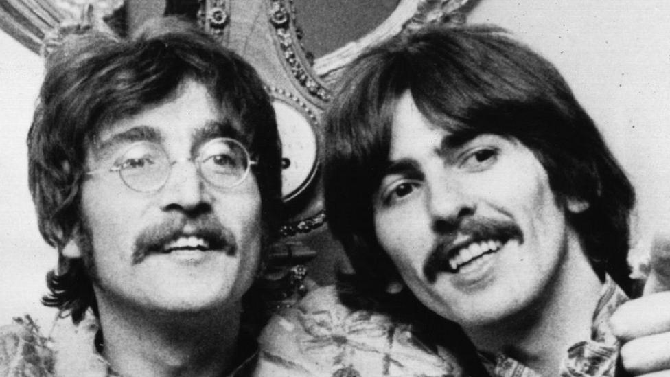 John Lennon and George Harrison