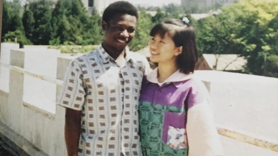 Wang Li Hong Sooma (R) and Ayub Sooma (L) - archive shot