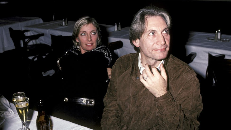 Charlie Watts with wife Shirley in 1971