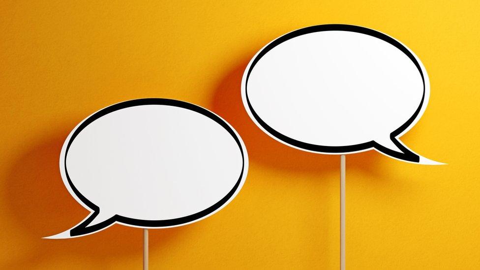 Empty dialogue balloons