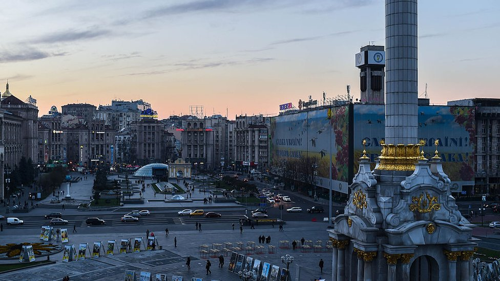 A general view of Independence Square on October 24, 2014 in Kiev, Ukraine