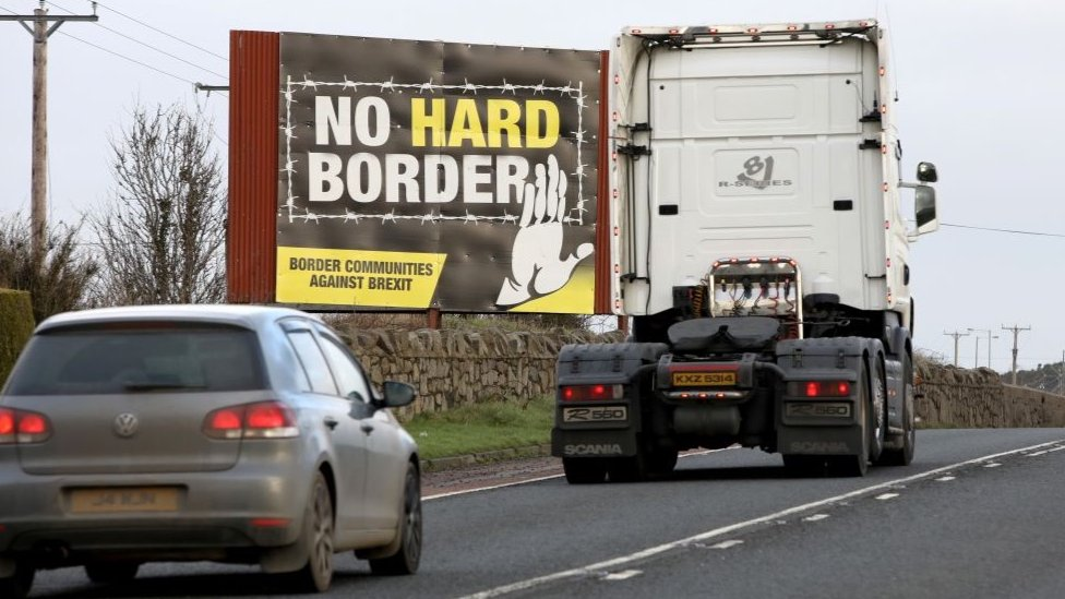 Irish border sign