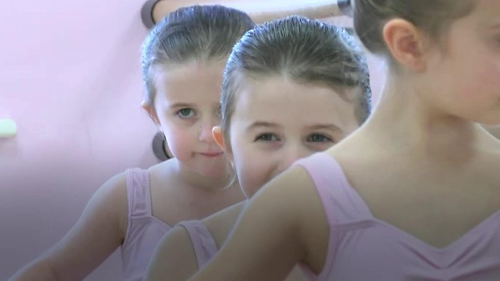 The Thanet ballet class with four sets of twins