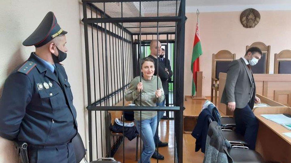 Klimkova and Skok on trial in Minsk