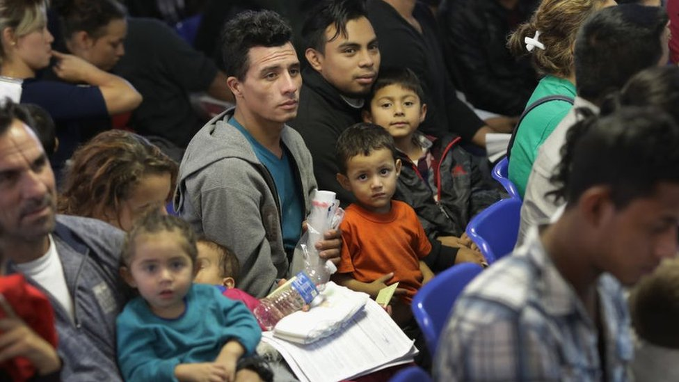 Migrantes en camino desde Centroamérica hacia Estados Unidos