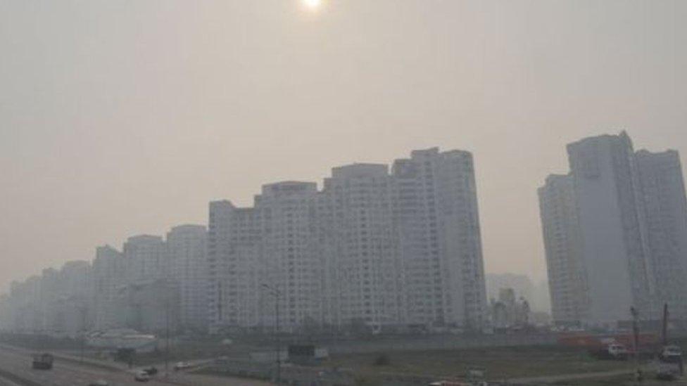 Kiev'de duman tabakası