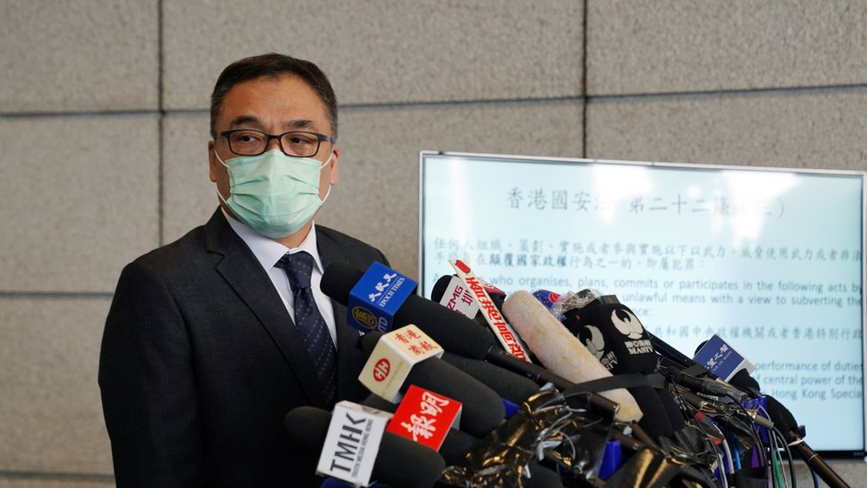 """警務處國安處高級警司李桂華指出,被捕人士聲稱不論議案內容如何都會否決,這是""""最大的問題""""。"""