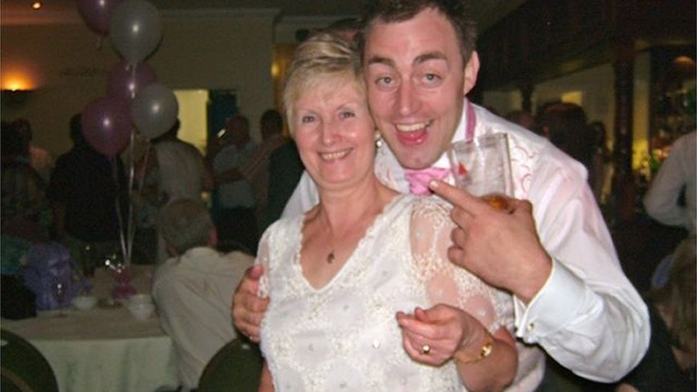 Len Hodkin with his mother Sally Hodkin