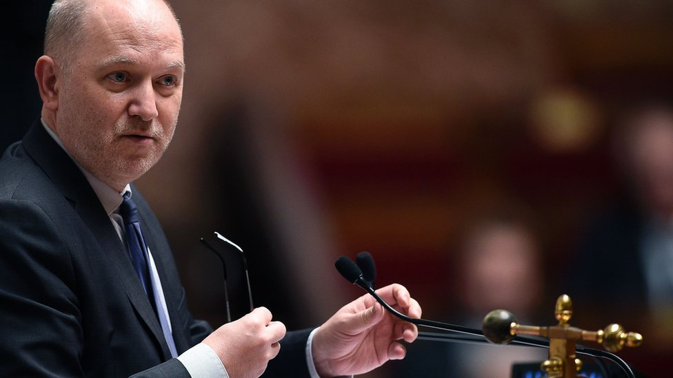 Denis Baupin attending a session of questions to the government at the French National Assembly in Paris (December 2015)