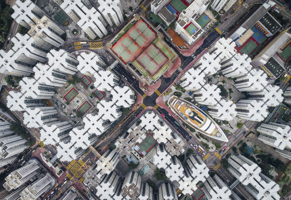 The Kowloon Walled City from above