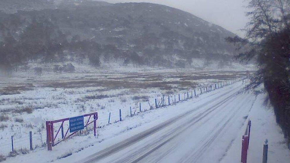 snow gates at Braemar