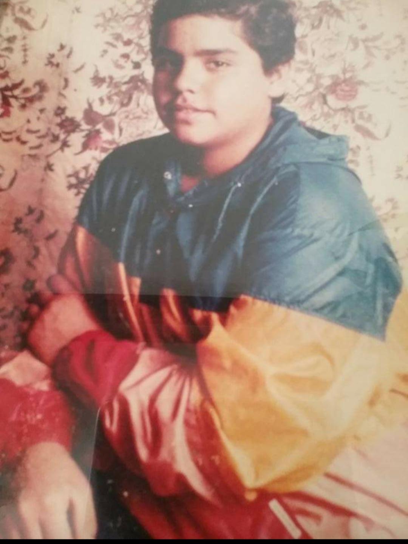 Manny Flores adolescente.