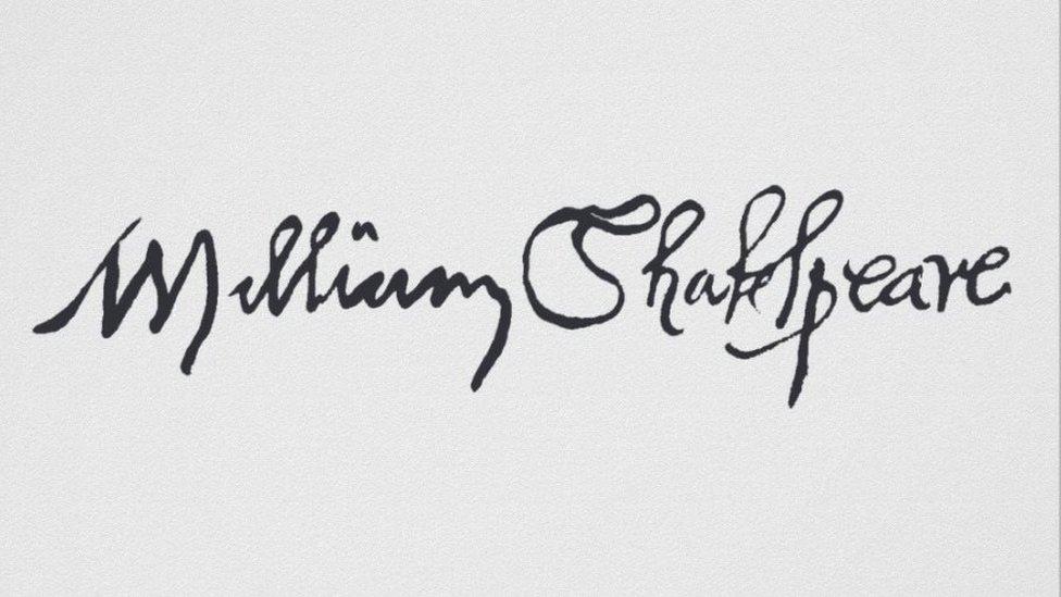 Shakespeare's signature