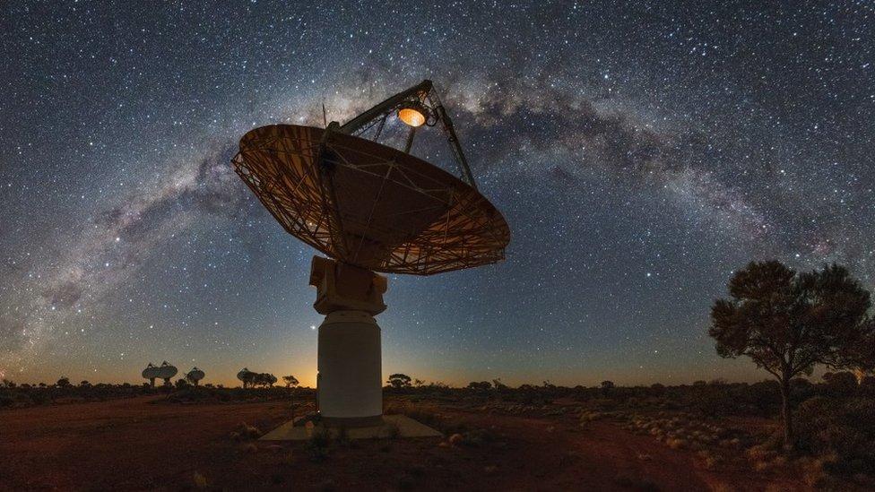 Telescopio ASKAP en Australia