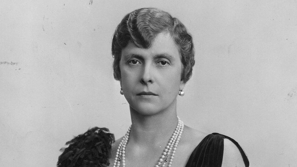 Retrato de la princesa Alicia de Battenberg alrededor de 1945