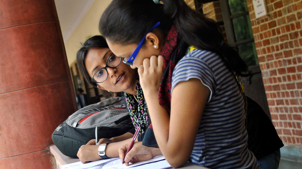 Estudiantes en Delhi