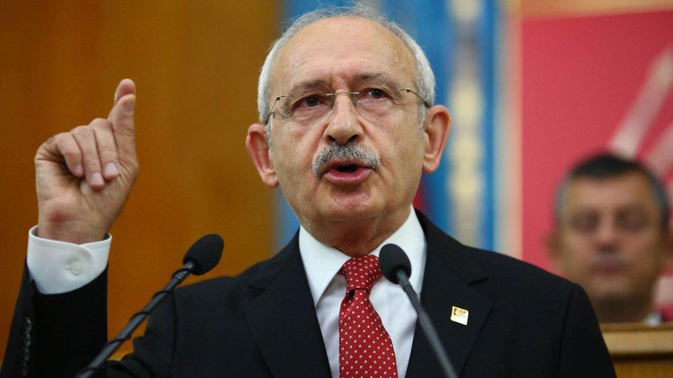 زعيم المعارضة التركية كمال قليجدار أوغلو