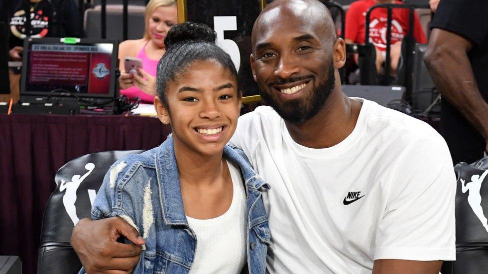 Gianna y Kobe Bryant.