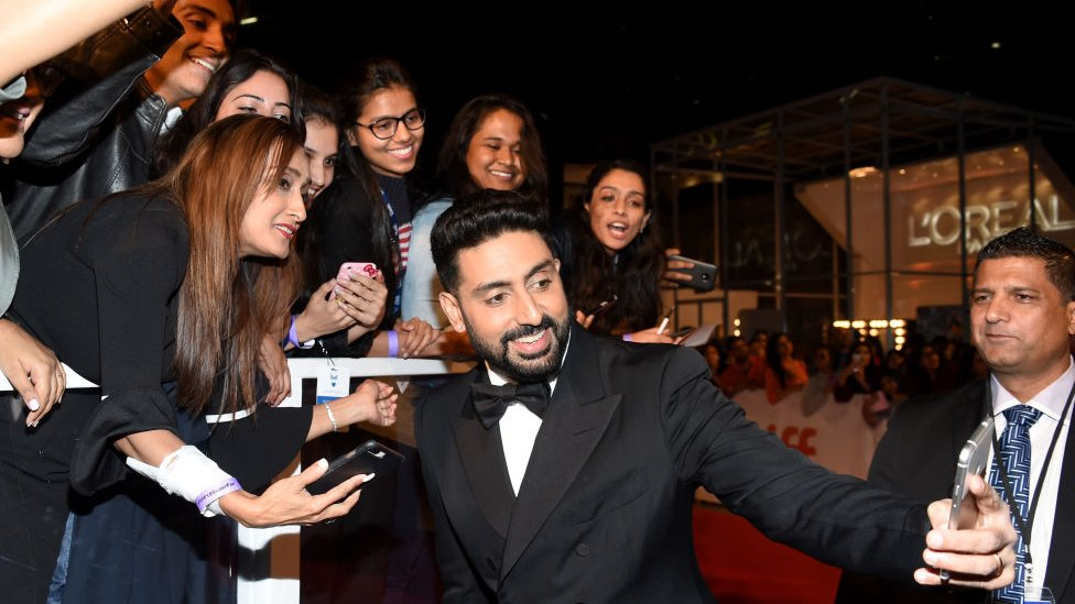 Abhishek Bachchan with fans