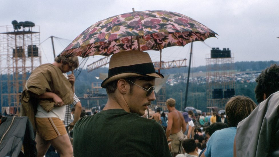 Man with a parasol