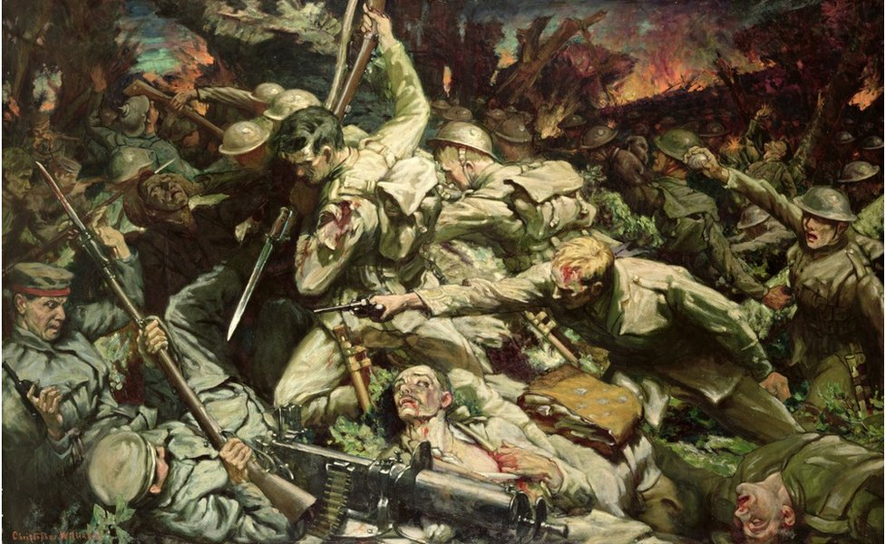The Welsh at Mametz Wood by Christopher Williams, commissioned by David Lloyd George in 1916