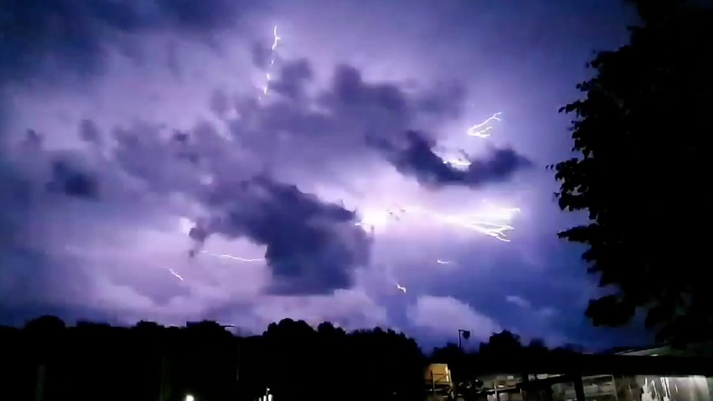 Lightning strikes over Kent and Sussex caught on camera