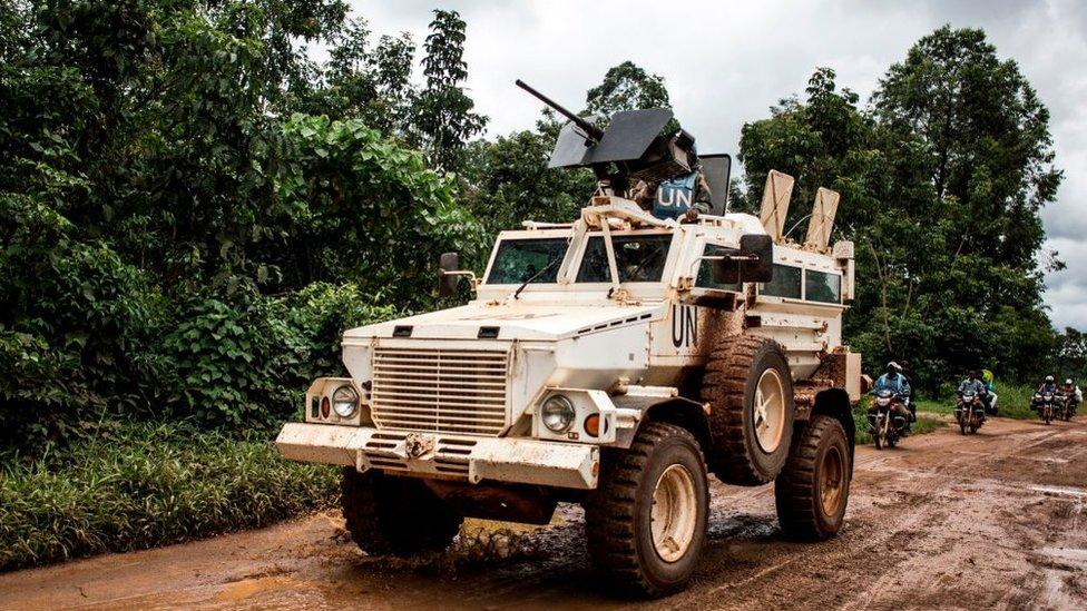 UN vehicle in Norht Kivu province, 2018