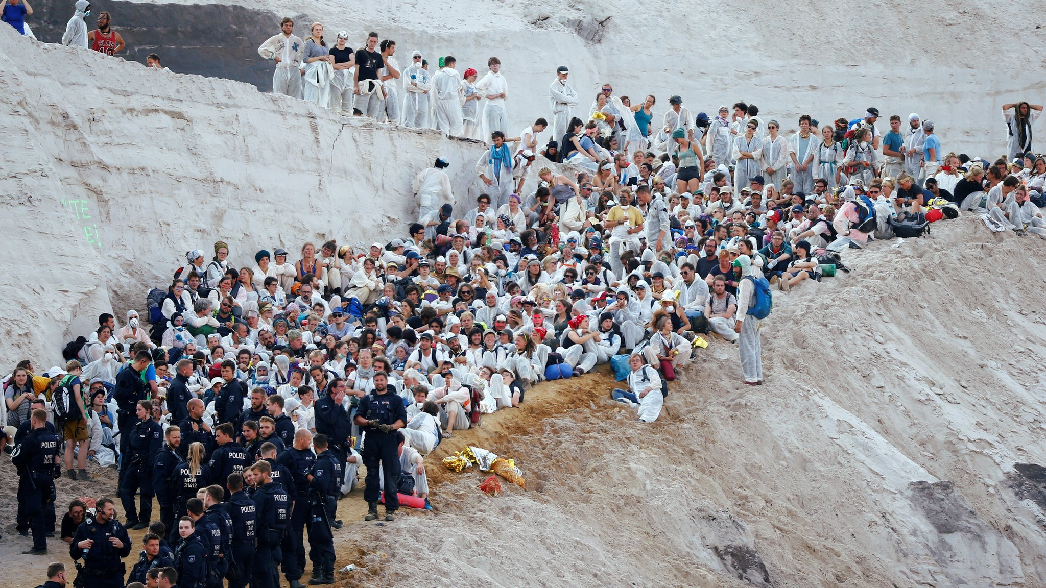 Climate protesters storm Garzweiler coal mine in Germany