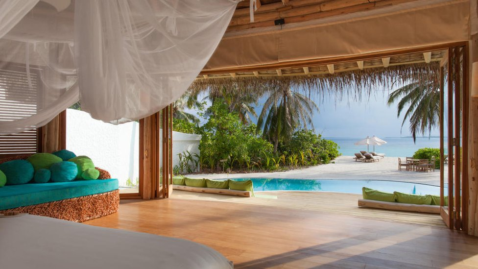 Soneva Resort private residence, Maldives, interior