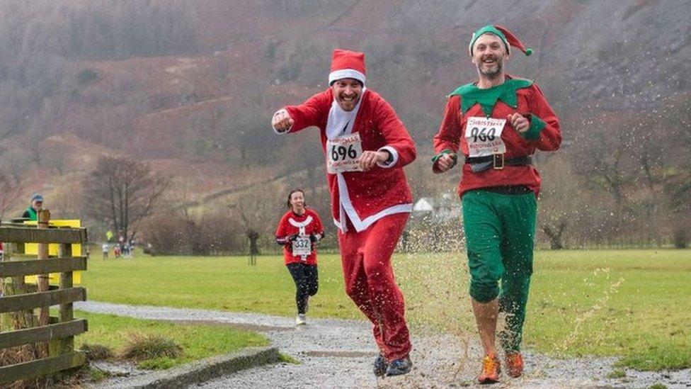 Festive runners take on the Lake District fells