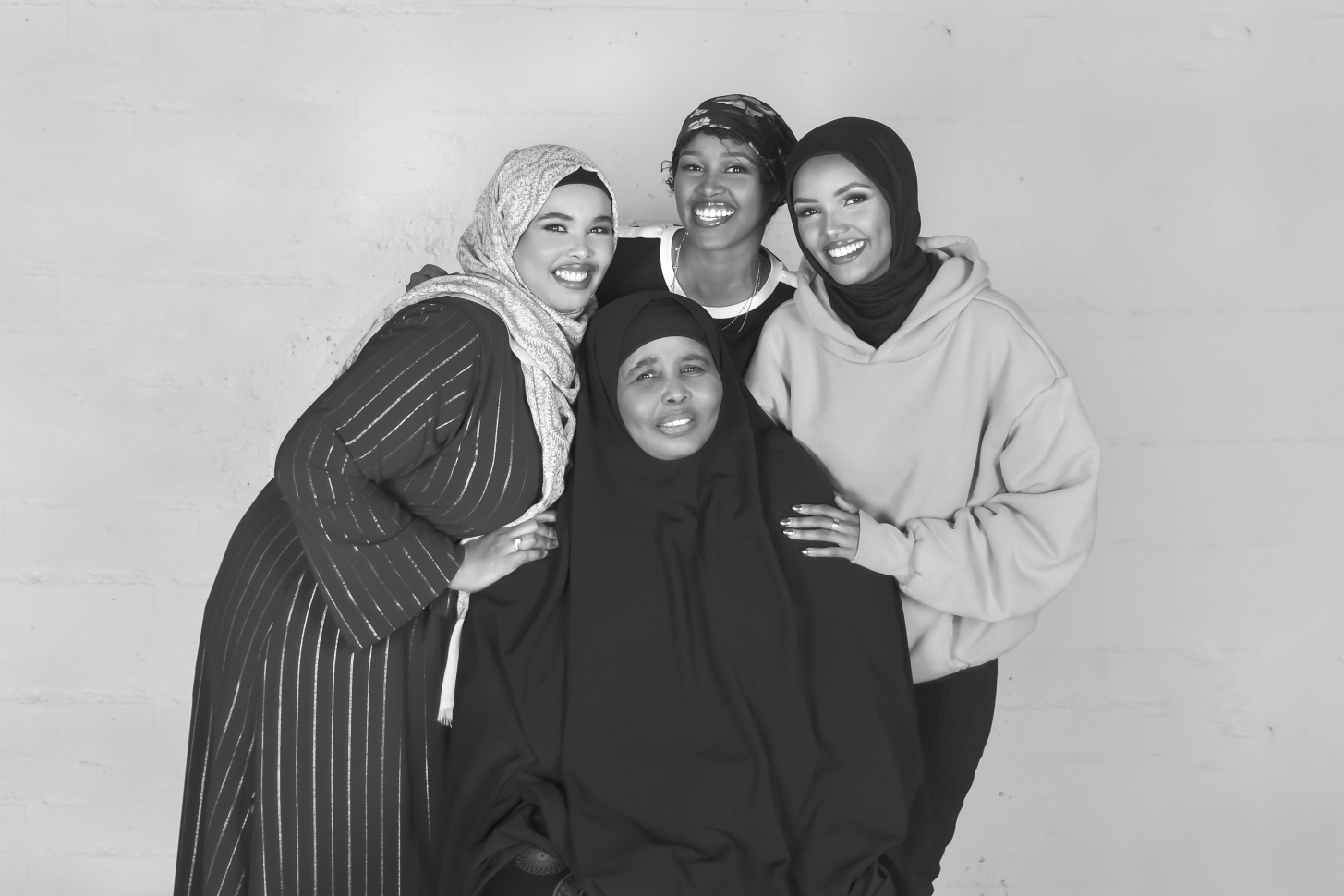Halima with her mother, sister Fadumo (left) and cousin Rahma