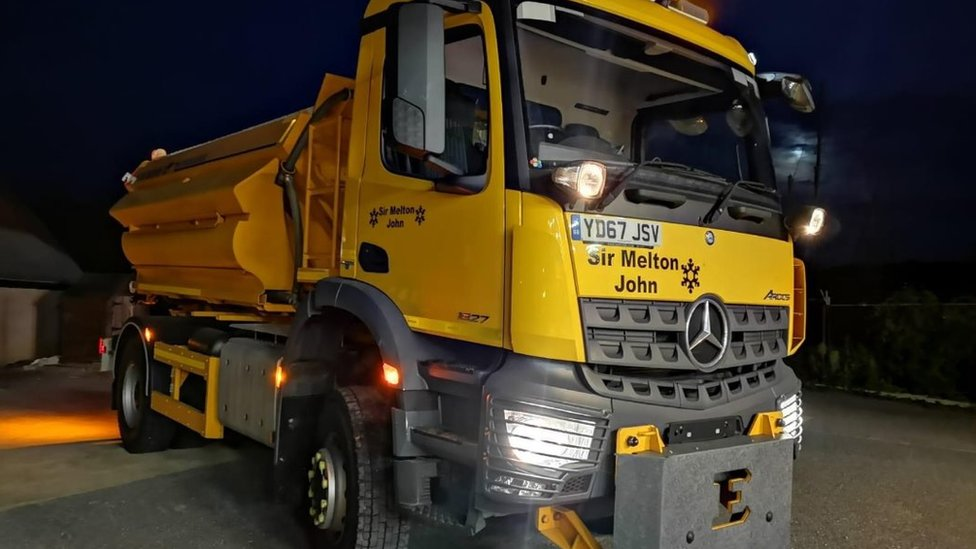 BBC News - Ed Sheeran and Griff Rhys Jones inspire names for gritters