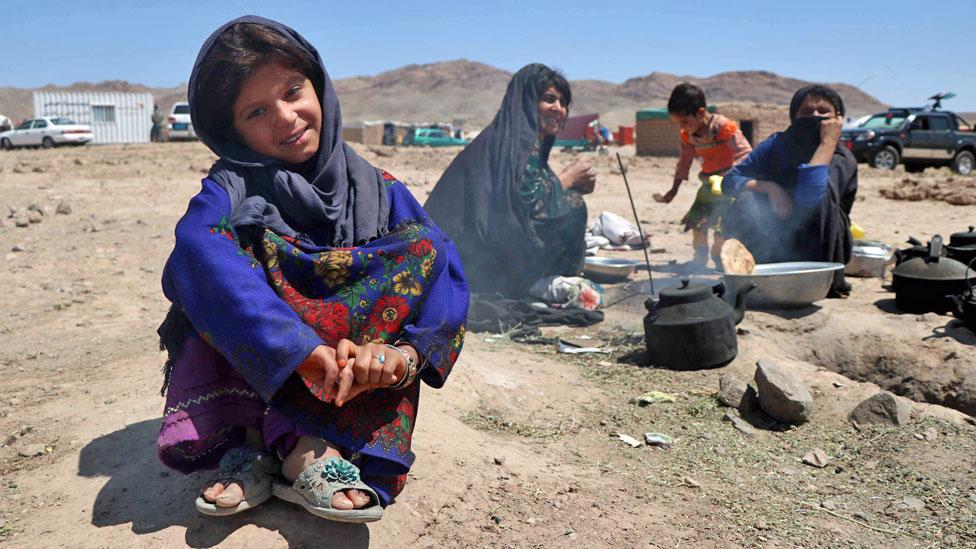 Afghan refugee families