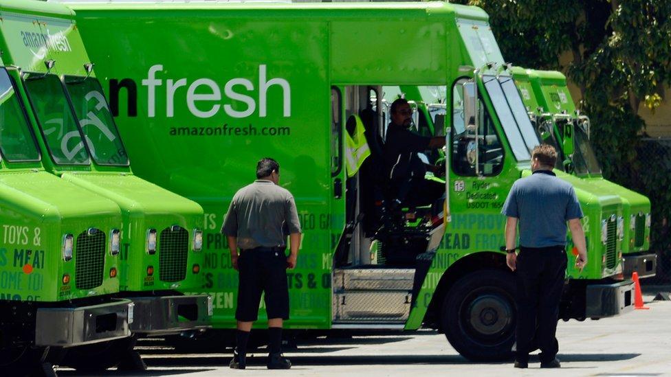Amazon Fresh vans