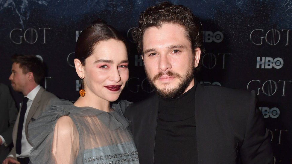 "Emilia Clarke and Kit Harington attend the ""Game Of Thrones"" Season 8 NY Premiere After Party on April 3, 2019"