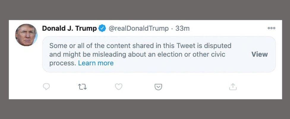 Trump blocked tweets