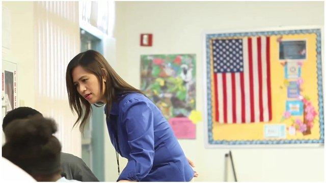 Filipino teacher in US