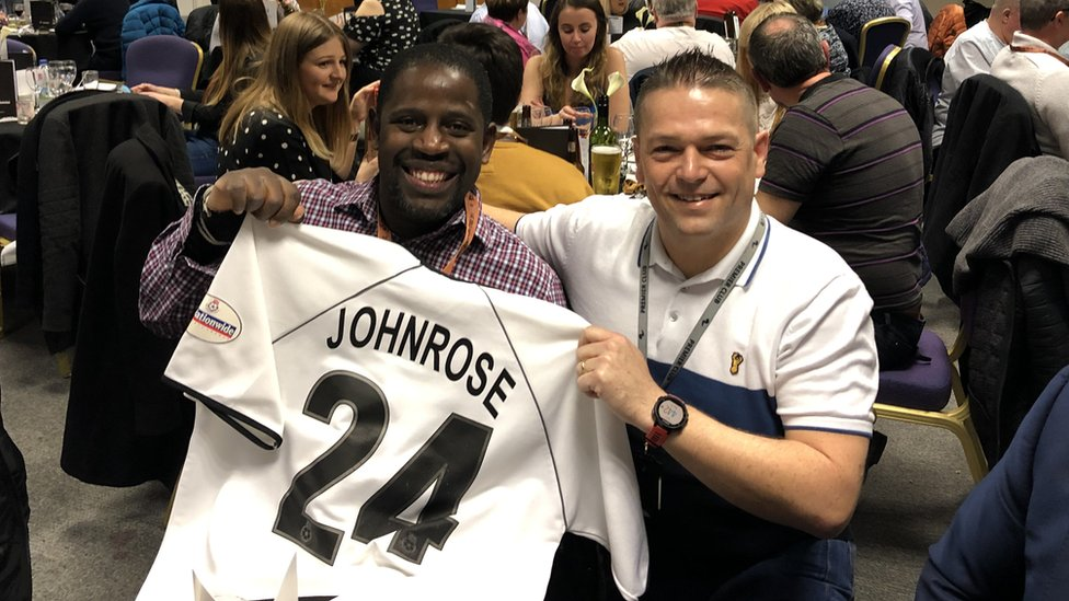 Swansea City: Lenny Johnrose reunited with jersey after 16 years