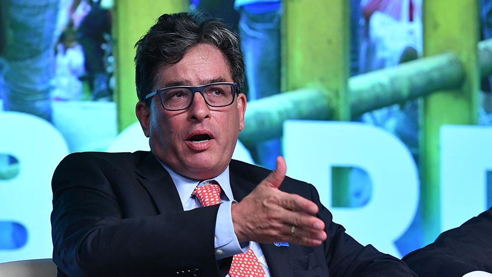 El ministro de Hacienda de Colombia, Alberto Carrasquilla,