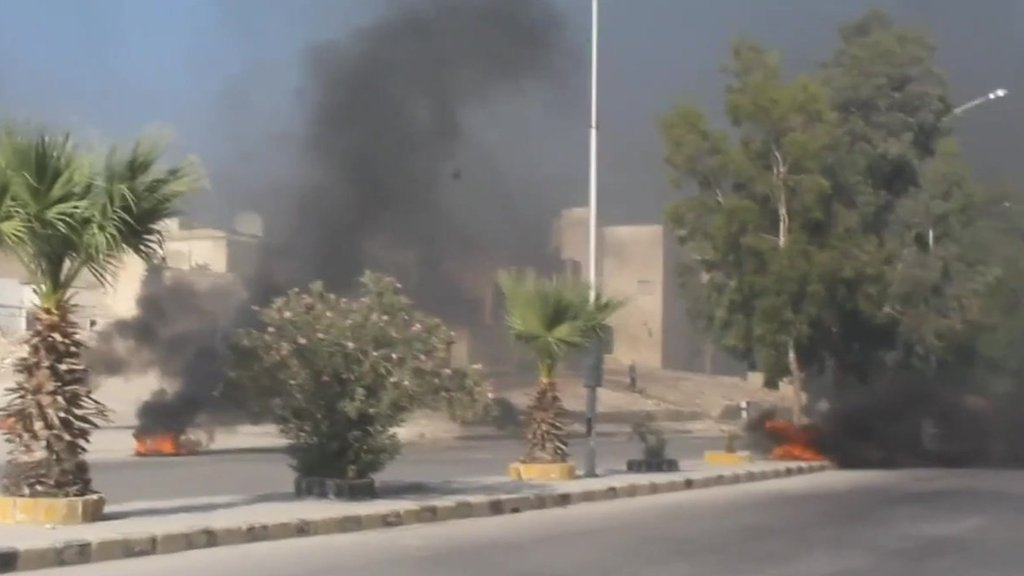 Aleppo tyre fires