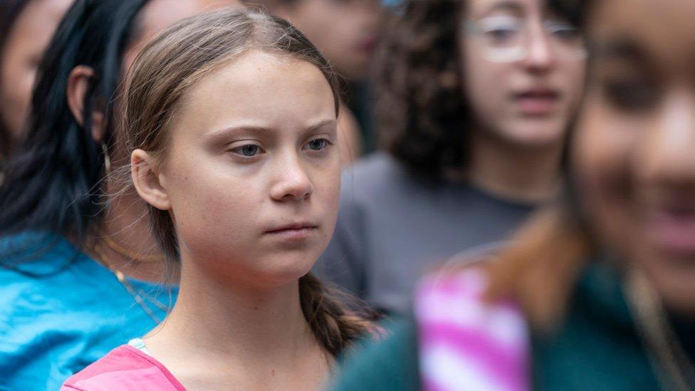 Greta Tunberg na protestu u Njujorku