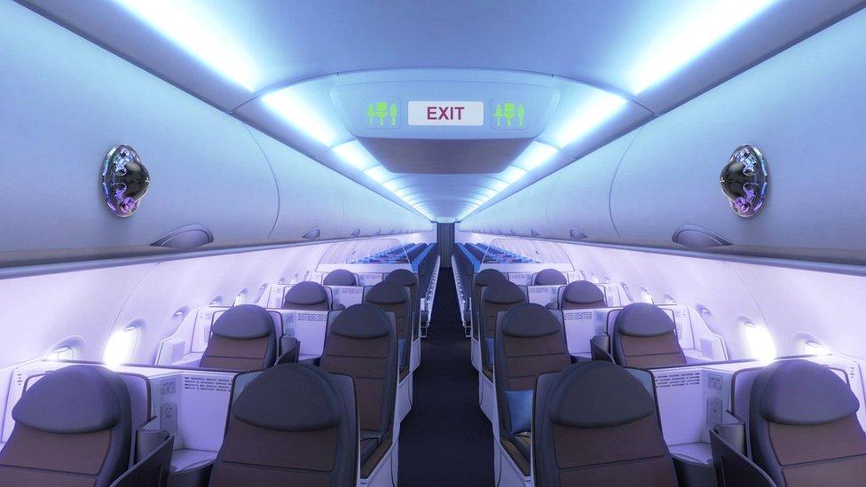 Passenger aircraft interior