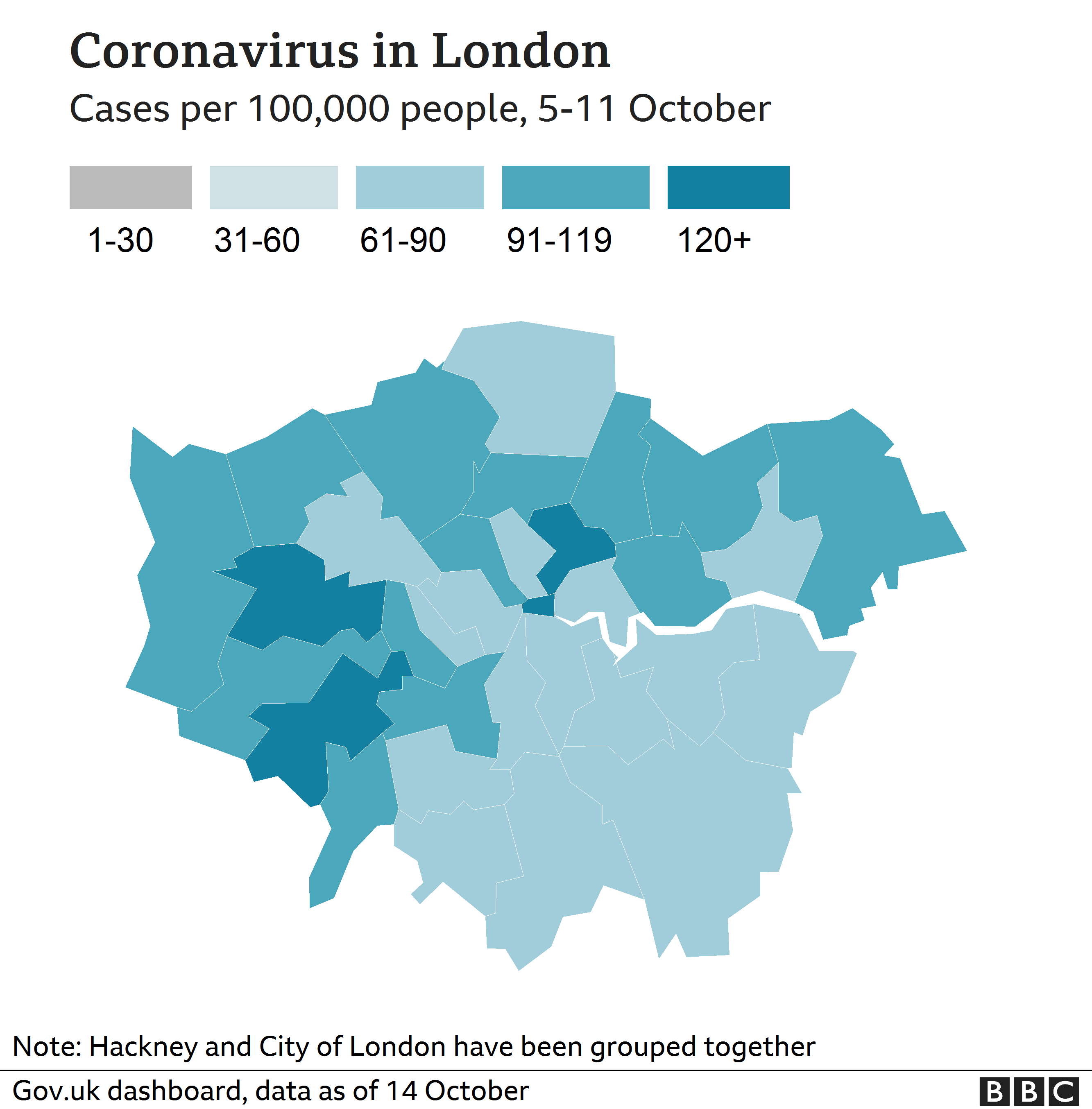 Covid Alert Level London Essex York And Other Areas Moving To Tier 2 Bbc News