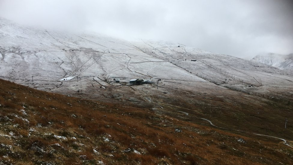 Snow at Nevis Range in Lochaber