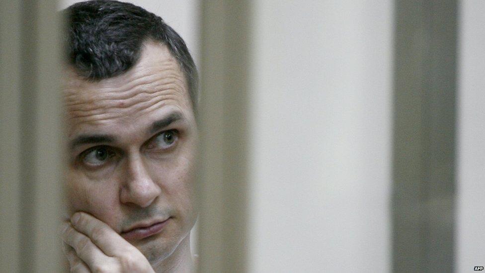 Oleg Sentsov on trial in Rostov-on-Don, Russia. Photo: July 2015
